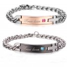 Korean Stainless Steel Couples Bracelet