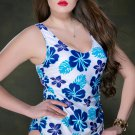 Women's One-Piece Triangle Size Print Swimsuit
