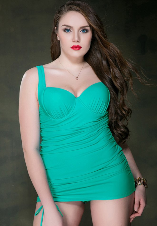 Plus Size one-piece skirt suit
