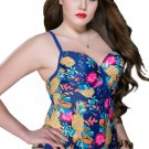 Blue Man Butterfly Print Swimsuit