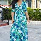 Multi-Color Print Wrap Dress