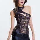 Gothic Overbust Steampunk Bustier Corset
