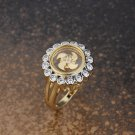 Gold Plated Flower Halo Ring