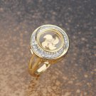 Gold Plated Halo Ring