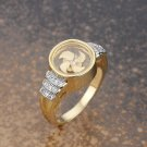 Gold Plated Fashion Crystal Ring