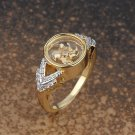Gold Plated 'V' Band Ring