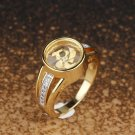 Windmill Gold Plated Ring With Crystals