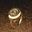 Gold Plated Ring With The Spinning Windmill
