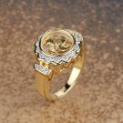 Flower Gold Plated Halo Ring