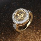 Spinning Windmill Gold Plated Ring