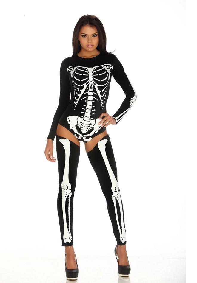 chic skeleton halloween costume. Black Bedroom Furniture Sets. Home Design Ideas