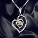 Heart Shape Necklace Women Crystal Jewelry Clavicle Chain