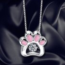 Cat Claw Necklace Women Crystal Jewelry Clavicle Chain