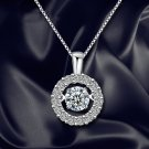 Round Necklace Women Crystal Jewelry Clavicle Chain