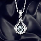 Love Water Drop Necklace Women Crystal Jewelry Clavicle Chain