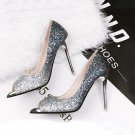 Sequins gradient high heels