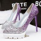 Gradient sequins fine with high heels