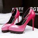 Fine point with waterproof platform heels