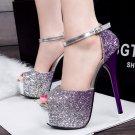 Gradient nightclub high heels