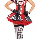 Naughty Harlequin Clown Costume