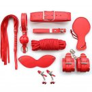 8Pcs Red Bondage Restraints Set