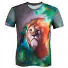 Men's Short Sleeve T-Shirt 3D Lion Print Fashion Tee Shirts