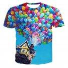 3D Digital Printing Balloon Short-sleeved T-shirt