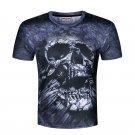 Men's Skull Digital Printing Short Sleeve T-shirt