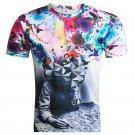 Men's Casual 3D Digital Printing Thinkers Short-sleeved T-shirt