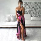 Prints High Split Beach Maxi Dress