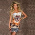 Women's Sexy Print Pattern Bodycon Mini Dress