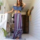 Bohemian Style Vintage Prints Split Skirt