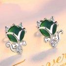 Silver Crystal Foxy Earrings