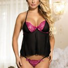 Mini Length Babydoll With G String