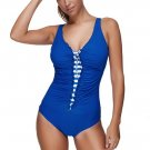 Blue One-piece Sexy Swimsuit