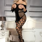 Sexy Fishnet Open Up Off Shoulder Bodystocking