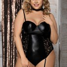 Black Plus Size Teddy With Ring