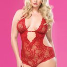 Sexy Plus Size Lace Badydoll Lingerie