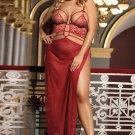 Plus Size 2pcs Belle Decolette Love Sexy Gown