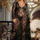Plus Size Delicate Lace Long Sleepwear Gown
