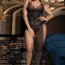Plus Size Black lace elegant babydoll