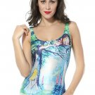 Alice in Wonderland Print One-piece Swimsuit