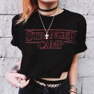 Women's Loose Casual Letter Printed Basic Short Sleeve Tops