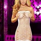 Hollow-cut Strapless Mini Dress