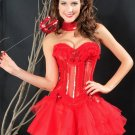 Red Hot Christmas Corset with Tutu Skirt