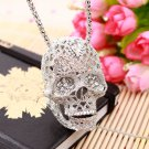 Fashion Stereo Skull Necklace Inlaid Crystal Pendant Skull Necklace