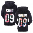 King Queen Hoodies Matching Couple Hoodies His&Her Sweatshirts Pullover Hooded