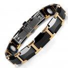 Cavalier-Ceramic Tungsten Golf Arthritis Magnetic Bracelet for Men