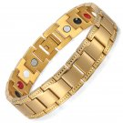 Gold Titanium Bracelet | Negative Ion Bracelet