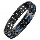 Summoner -Mens Carbon Fiber Titanium Energy Magnetic Therapy Golf Bracelets
